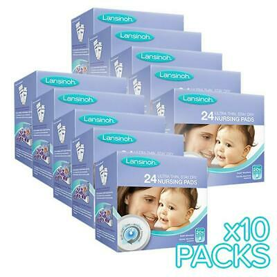 Lansinoh Value Pack: Disposable Breastfeeding Nursing Breast Pads, 10 x 24 Packs