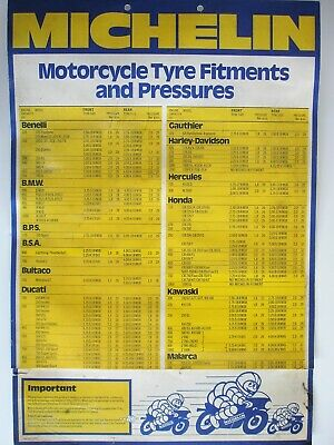 Michelin Motorcycle tyre guides 1978