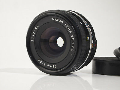 Nikon Series E 2.8 / 28mm Lens - fully working - exc.+