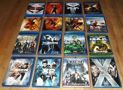 16 blu-ray DC MARVEL X-Men Apocalypse HULK Spider-man 2 3 Homecoming DAREDEVIL
