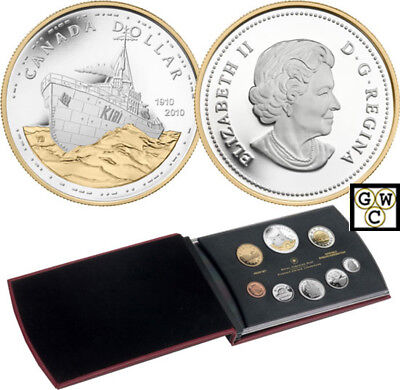 2010 Proof Set – 100Th Anniversary Of The Canadian Navy (12608) (Ooak)