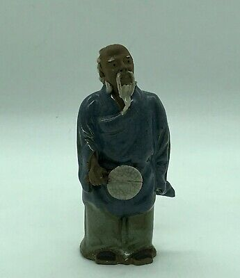 Antique Small Figure Type Asian Terracotta Email Crackle H:11,5 CM