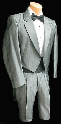 Grey Firenze Tuxedo Tailcoat Fancy Dress Dickens Christmas Downton Abbey Butler