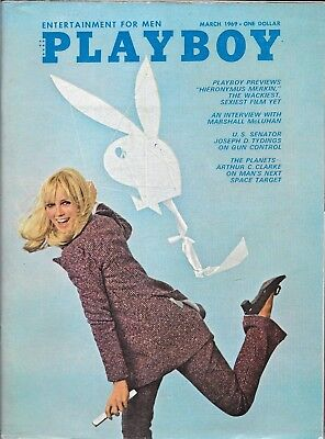 Playboy Magazine-Vintage-March 1969-Great Condition-Free Shipping In Canada