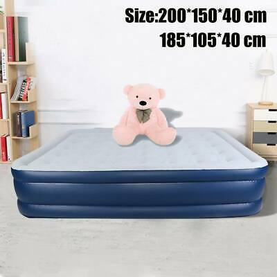 High Raised Inflatable Double Air Bed Mattress Airbed With Builtin Electric Pump