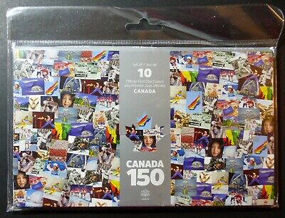 Canada 2017 - 150 Ofdc Set Of 10 First Day Covers - Mnh - Not Sealed