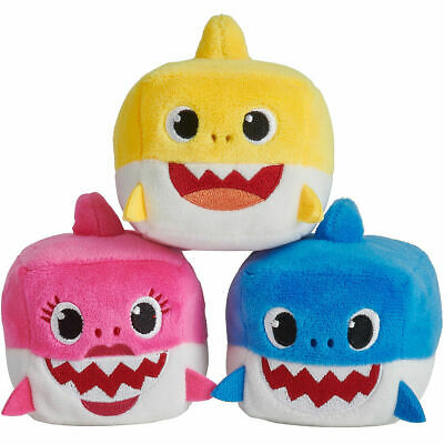 Singing Baby Shark Cube Plush Squeeze Toy Hear  Hit Song Baby Shark