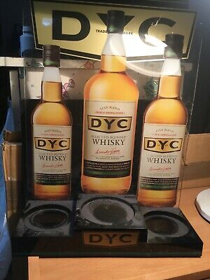 Expositor metacrilato whisky DYC para 3 botellas