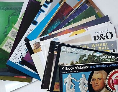 A collection of stamp books