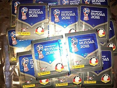 LOT 25 pochette de stickers Panini  RUSSIA 2018  !!!!!!!!!!!!!!!!!!