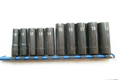 "Matco 10 Piece Deep Metric Impact Socket Set. 10 to 19mm. BDPA. 3/8"" Drive"