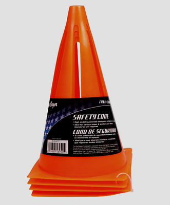 """NEW! MacGregor Field Safety Cones Made of PVC 9"""" Tall 4 Per Pack 40-16950"""
