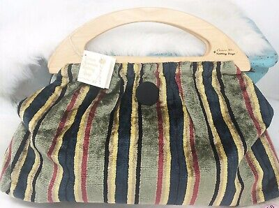 NEW Green Mountain Knitting Bag Chenille Fabric Interior Pockets Vermont Wood