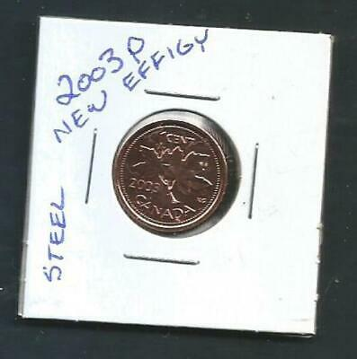 Canada - 1 Cent - 2003P - New Effigy - Magnetic - BU PL from set