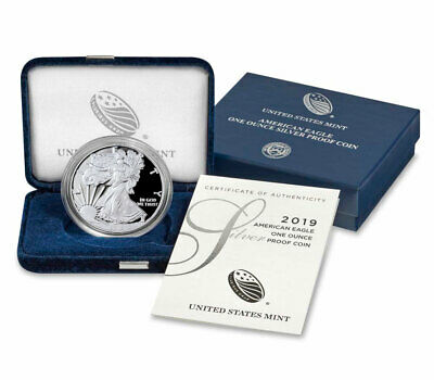 2019 S 1 oz Proof American Silver Eagle $1 GEM Proof OGP SKU58766