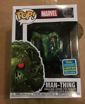 Funko Pop SDCC 2019 Marvel Man-Thing #492 Limited Edition Exclusive New