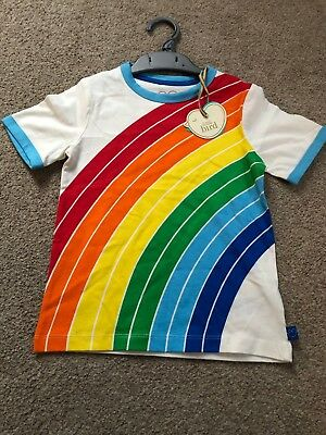 Little Bird By Jools Oliver Rainbow Ringer T-shirt 2-3 Years