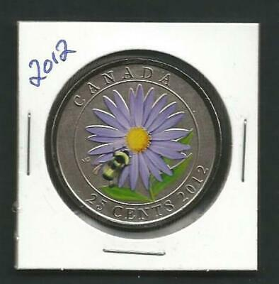 Canada - 25 Cents - 2012 - Aster / Bumble Bee