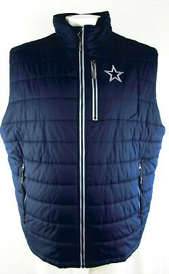 new style ace0b a1d8f DALLAS COWBOYS VICTORIAS Secret Puffer Vest NFL Blue Womens ...