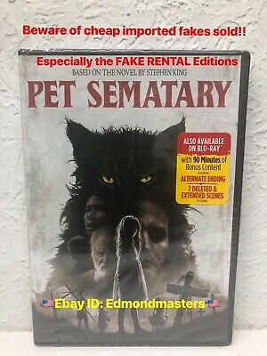 PET SEMATARY DVD 2019 Authentic! (BEWARE OF THE FAKES SOLD)