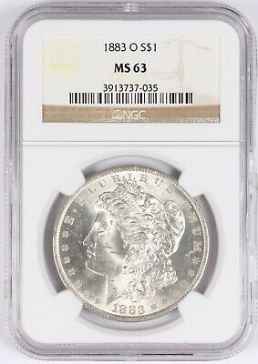 1883-O Morgan Silver Dollar $1 NGC MS63