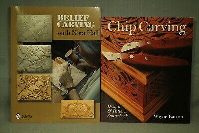Relief Carving with Nora Hall Chip Carving design & pattern book woodcarving