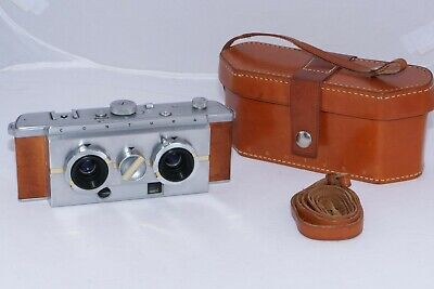 Contura Stereo camera. Very rare 130 ever made vintage 3D camera. Original Case