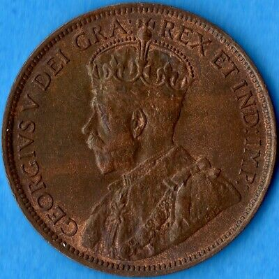 Canada 1918 1 Cent One Large Cent Coin - Choice Uncirculated