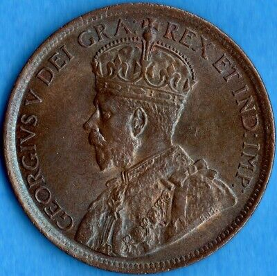 Canada 1919 1 Cent One Large Cent Coin - Uncirculated+