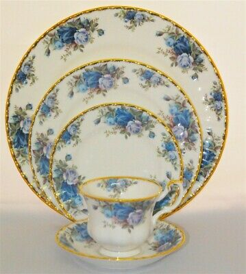 1-Royal Albert Moonlight Rose 5 piece Place Setting ( 6 Available)