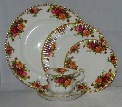 1-Royal Albert Old Country Roses 5 Piece Place Setting (England) 6 Available