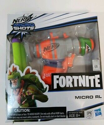 NERF FORTNITE MICROSHOTS Rex RL Single Shot Blaster w/ 02 Darts NEW