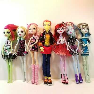Monster High Dolls Lot of 7 Clothes Shoes Accessories Boy