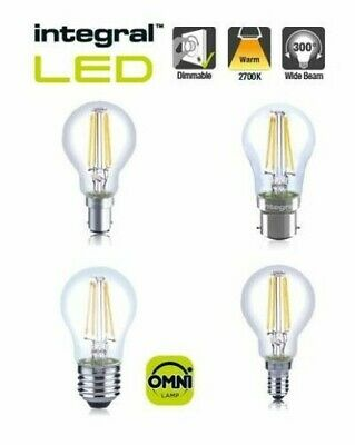 Dimmable LED Full Clear Glass Filament Warm White Golf Ball Bulb 3.5W 4.5W