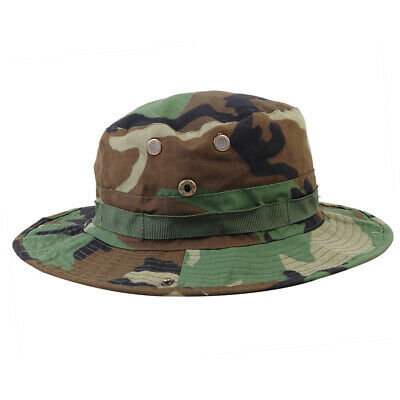 Outdoor Boonie Sun Hat Camping Hiking Fishing Wide Brim Camouflage Bucket Cap