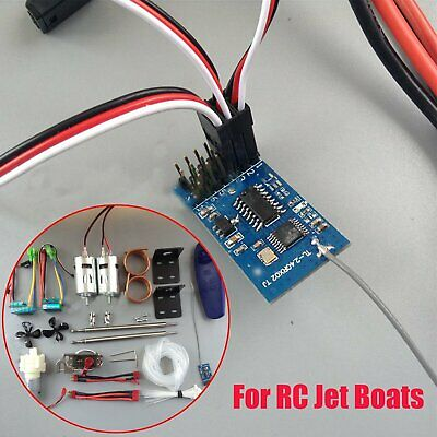 12V Motor Water-cooled+CW CCW Propeller+2.4G Receiver+Water Pump For RC Jet Boat