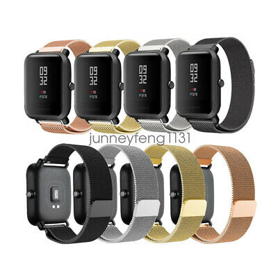 For Huami Amazfit Bip Youth Watch Band, Stainless Steel Milanese Loop Mesh Strap