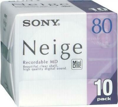 10 pcs SONY Mini Disc Neige 80 min Recordable MD 10MDW80NED Japan F/S
