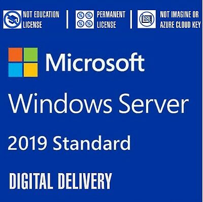 Windows Server 2019 Standard 64-bit Genuine License Key and Download P73-07907
