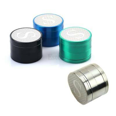 55mm 4 Layers Zinc Alloy Hand Crank Herb Crusher Mill Tobacco Smoke Grinder
