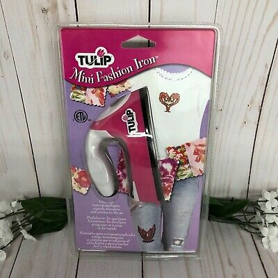 Tulip Mini Fashion Iron for Crafting, Sewing, Appliques, Transfers - NIP