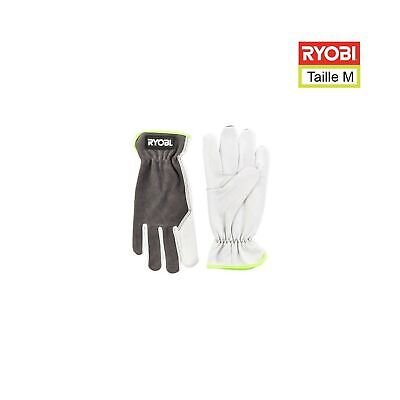Ryobi 5132002994 RAC810 M Leather Gardening Gloves, M .