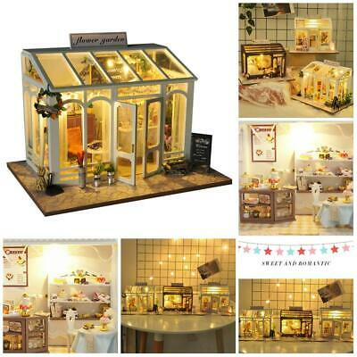 Doll House Miniature DIY Kit Dollhouse Furniture LED Lights Children Gifts Toy