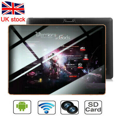 NEW 10.1 Android 8.1 Tablet PC 10 Inch 64GB Core  HD WIFI 4G 2 SIM Phablet Black