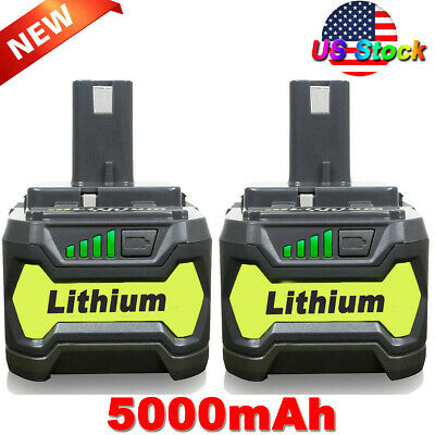 2X 5.0Ah 18 VOLT P108 for 18V RYOBI ONE+ PLUS Lithium High Capacity Battery P122