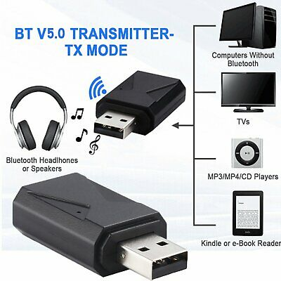 2 in1 USB Bluetooth 5.0 AUX Transmitter Receiver Wireless Audio Adapter Sender