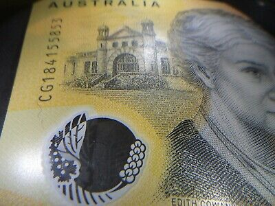 Aust consec pairs $50 Unc 2018/19 New Polymer ERROR  with 3 spelling mistakes!