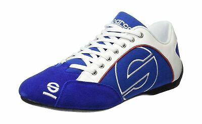 Sparco Esse Canvas sports shoe in fabric, leather and suede, light blue, si... .