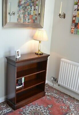 Antique Style Mahogany Open Adjustable Bookcase Bookshelf Shelves Bradley