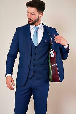 Mens Marc Darcy Royal Blue Tailored Blazer Blazer Suit Jacket (Size 34-52)